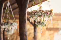 Wedding decorations in rustic style